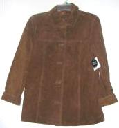 Womens Suede Leather Jacket Brown Jaclyn Smith Large