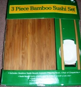 Sushi Set Bamboo Board Bowl Chopsticks