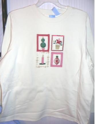 Christmas Womens Sweatshirt Cream 3X