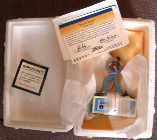 Elvis Presley Music Box Teddy Bear Franklin Mint
