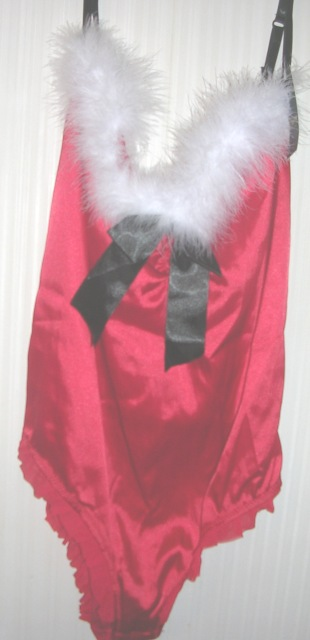 Christmas Holiday Santa Teddy Teddie Lingerie by Passion Large