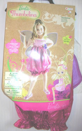 Barbie Thumbelina Costume Small Ages 4 - 6x