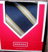 Mens Necktie Silk Tie Merona Navy Blue
