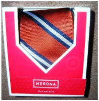 Mens Necktie Silk Tie Merona Orange
