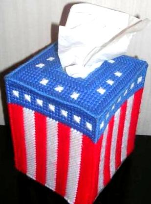 Fourth 4th of July Tissue Kleenex Box Cover Patriotic