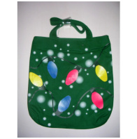 Christmas String Lights Canvas Tote Bag Purse