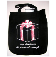 My Presence Is Present Enough Canvas Tote Bag Purse