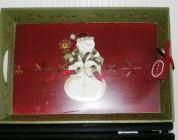 Wood Tray Snowman Tracy Jingle Bell