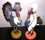 Thanksgiving Turkey Taper Candle Holders