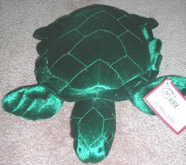 Rbi Plush Stuffed Green Turtle SeaMore Turtle #82512