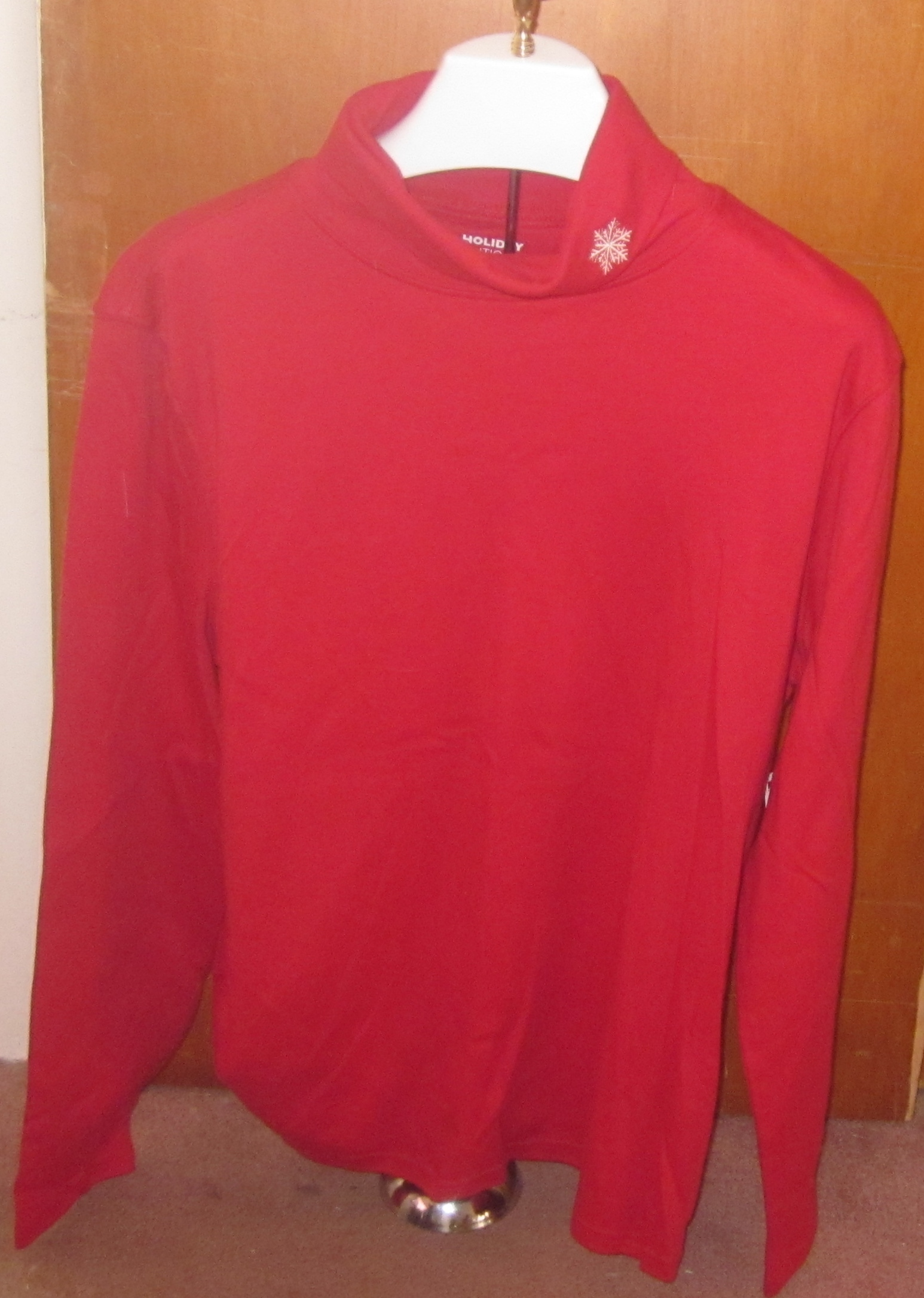 Red Turtleneck Snowflake Xlarge XL