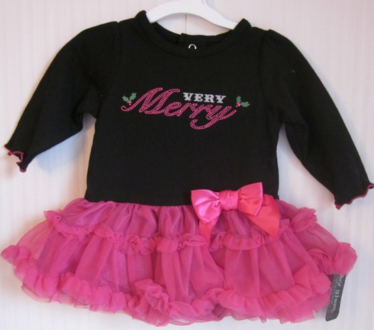 Baby Glam Very Merry Skirted Creeper Tulle Skirt 3 Months
