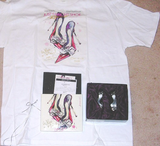 Just the Right Shoe What a Pair Signed and T-Shirt JTRS