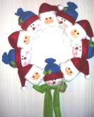 Christmas Santa Snowman Wreath Plush