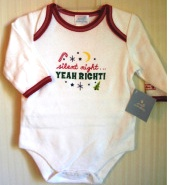 Christmas Long Sleeve Creeper Onepiece Snaps Bodysuit 6 9 Months