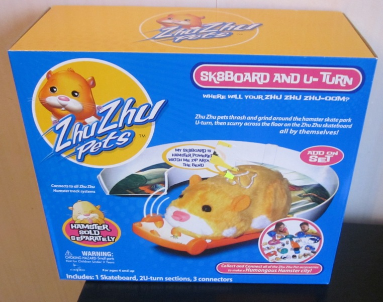 Zhu Zhu Pets Skateboard and U Turn